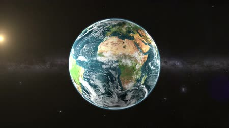 planety : Planet Earth rotate in space Wideo