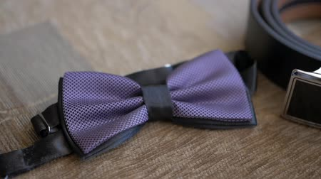 Bow tie groom and accessories