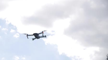 uav : drone flies in the air