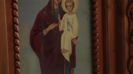 blessed virgin : Orthodox icon in the church