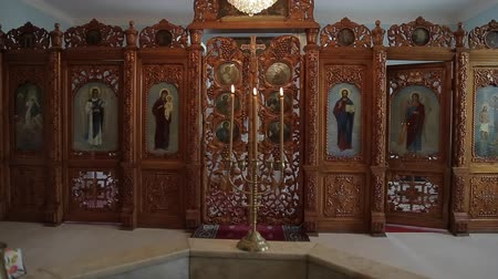 евангелие : Orthodox icon in the church
