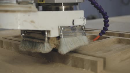カーペンター : Slow motion working with power tools. 動画素材