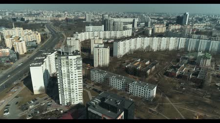 destino : Aerial : Drone shooting of the landscape in Minsk city Belarus