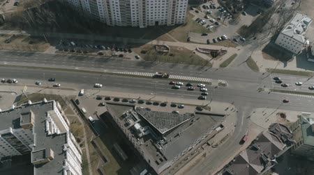 destiny : Aerial : Drone shooting of the landscape in Minsk city Belarus