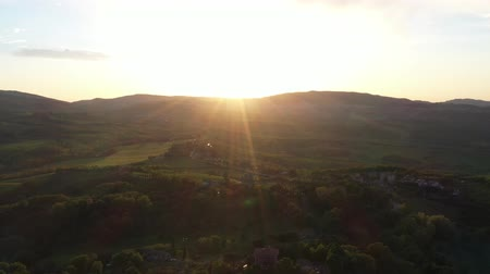 toscana : The drone flies over the wine fields in Italy. Stock Footage