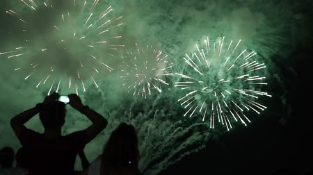 ter cuidado : happy people look festive Fireworks