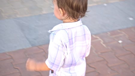 nipple : Little boy with nipple running Stock Footage