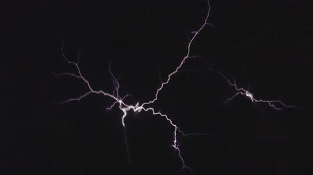 electrostatic : Tesla coil in action. Stock Footage