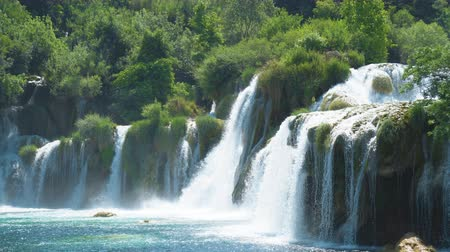balcani : Beautiful view of the waterfall in KRKA national park, Croatia.