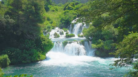 reserva : Beautiful view of the waterfall in KRKA national park, Croatia.