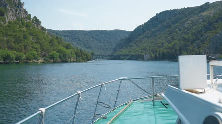 dalmácie : View from the excursion boat in the national park KRKA, Croatia.