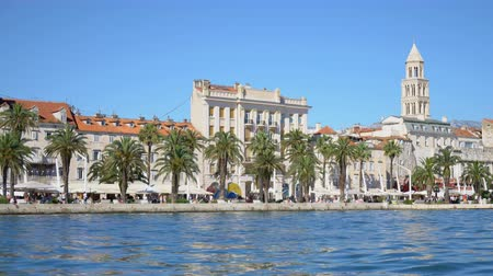 chorvatský : Beautiful view of the old town Split in Croatia.