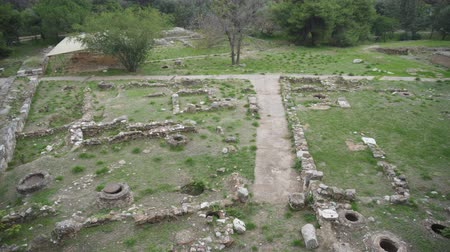 yunan : Excavations of ancient archaeological site.