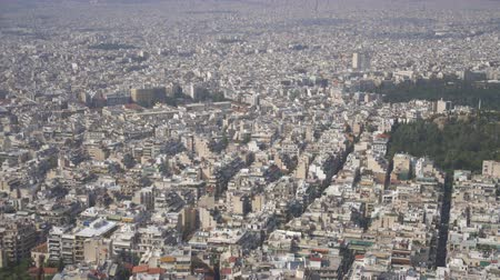 yoğunluk : Aerial view on rooftops and houses in Athens, Greece.