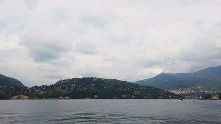 Panoramic view from the Como lake. Stock Footage