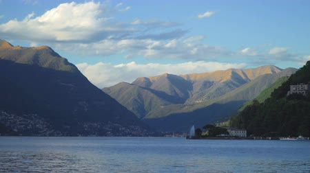 Beautiful summer Como lake landscape view in Italy.