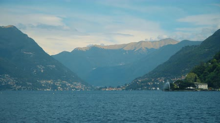 Beautiful summer Como lake landscape in Italy.