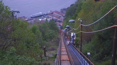 Como Brunate funicular railway in Italy.