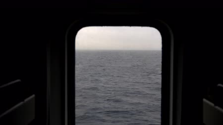 baltské moře : View of the sea from the porthole of the ship.