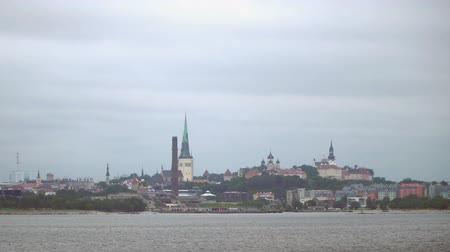 steeples : Old Tallinn view from the seaside.