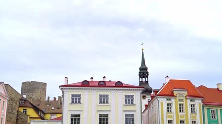 estonya : Parliament Building Of Estonia and Alexander Nevsky Cathedral in Tallinn.