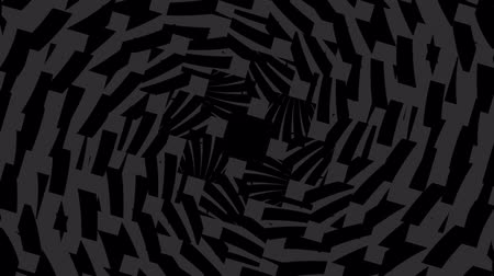 neverending : Abstract geometric dark background with endless spiral. Hypno spiral HD animation.