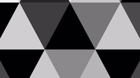 trójkąt : Geometric abstract greyscale background animation. HD motion design triangle explotion.