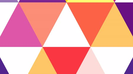 trójkąt : Geometric abstract colorful background animation. HD motion design triangle explotion.