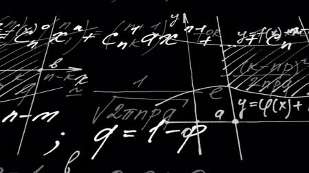 logarithm : Animation on mathematics. Stock Footage