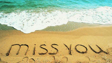 conversa : MISS YOU, creative abstract graphic message for your summer design.