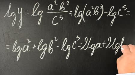 logarithm : Mathematical analysis, logarithming. Stock Footage