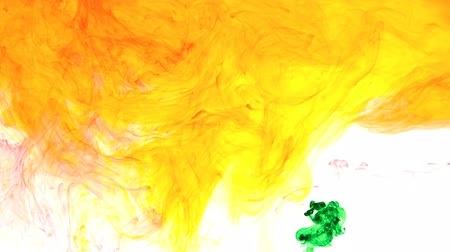 yellow ink : Abstract forms.