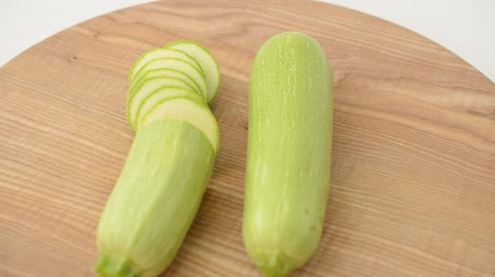 vegetable marrows : Vegetable marrows on a board.
