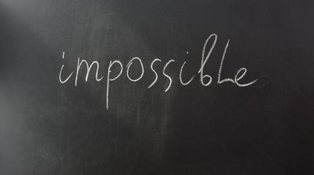 olasılık : The word is impossible.