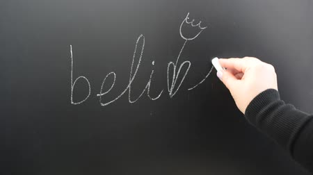 motivasyonel : We write the word believe on a board.