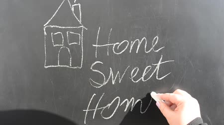 saying : Conceptual handwritten phrase Home Sweet Home.