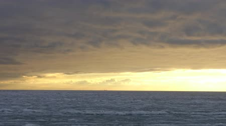 bulutluluk : The frozen sea. Clouds in the sky. Time Lapse. Stok Video