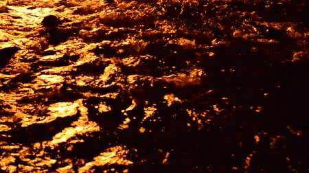 refletindo : Fire and river Stock Footage