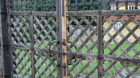 antique grunge : Old gate, shooting in the village.