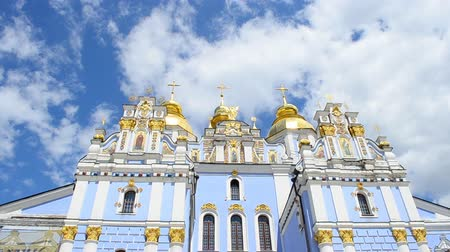 convento : Mikhaylovsky church. Kiev, Ukraine. Stock Footage
