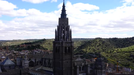 mary : Spain. The cathedral of Saint of Maria in Toledo. Timelapse. The Primate Cathedral of Saint Mary of Toledo. Stock Footage