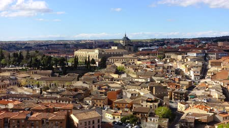 spanish style : Shooting of the city Toledo in Spain. Hospital of Tavera. Timelapse.