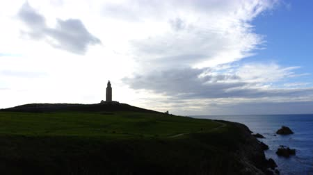 província : Tower of Hercules. La Coruna, Spain. Timelapse.