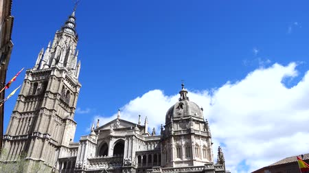 saint mary : The Primate Cathedral of Saint Mary of Toledo. Spain. Shooting in the movement.