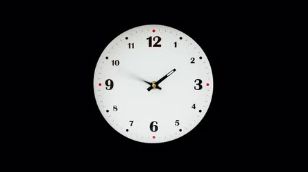 clockface : Shooting of hours. Time lapse. Alpha channel included. PNG + ALPHA.