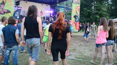 Карпаты : YAREMCHE, UKRAINE - JULY 5: Unknown people at the 9th international festival of bikers Wild fire on July 5, 2015