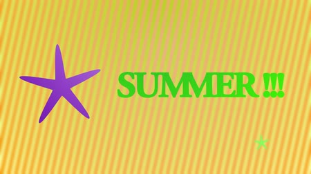 plastelíny : Animation with the word summer