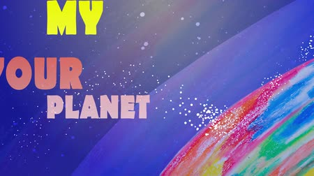 kontinenty : Animation on the planet the earth