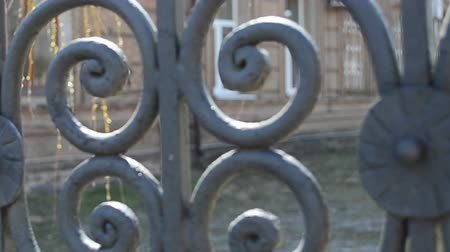 viktoriánus : The forged lattice, fence Stock mozgókép