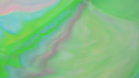 yoghurt : Color mixture of paints Stock Footage